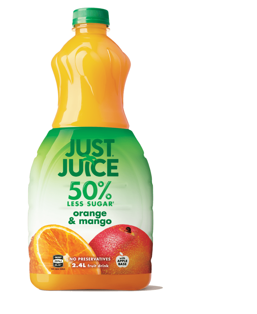 Just Juice Orange Mango 50% Less Sugar - 2.4L