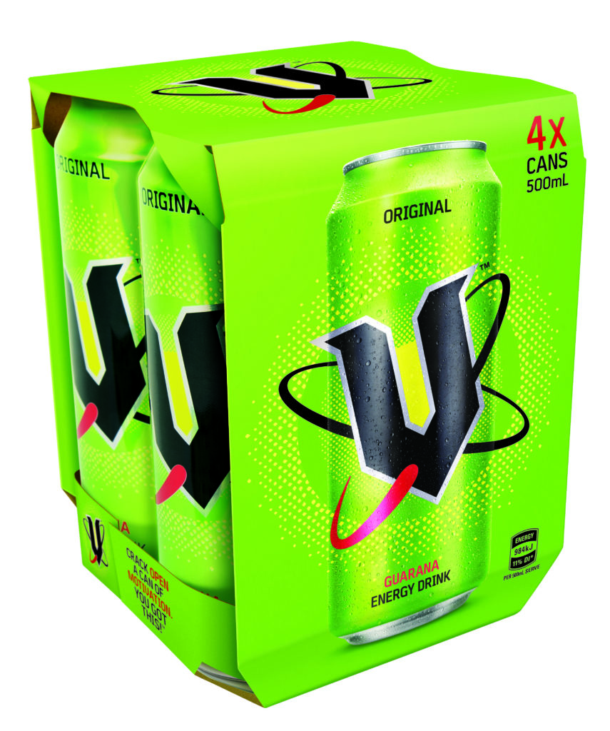 V Energy 4 Pack 500ml