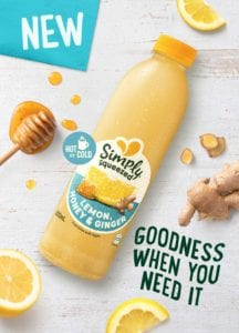 Simply Squeezed-Lemon, Honey and Ginger